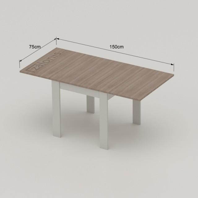 SLIDE WITH FOLDING TABLE LEAF, 60cm